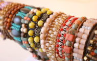 Beaded ladder bracelets by Catherine McManus